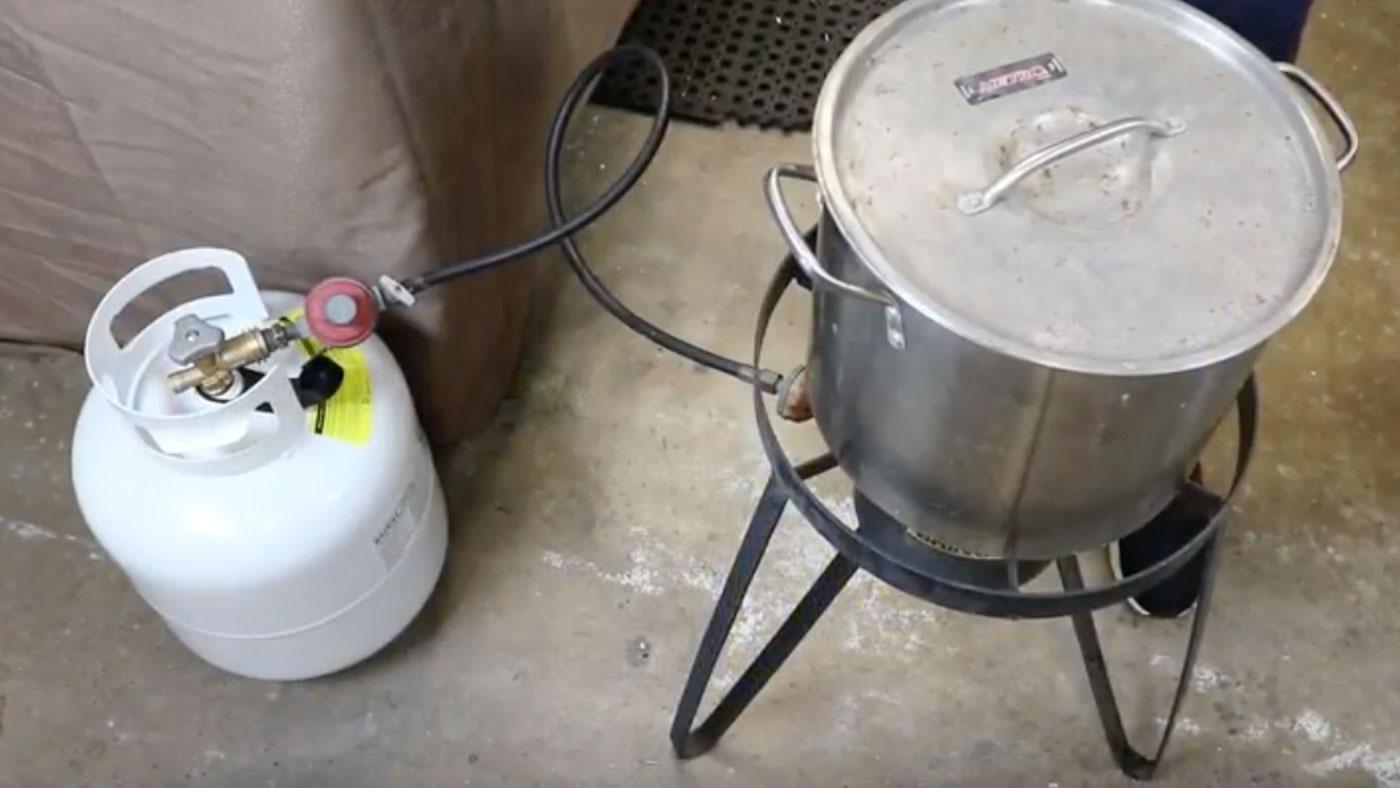 propane tank to boil water