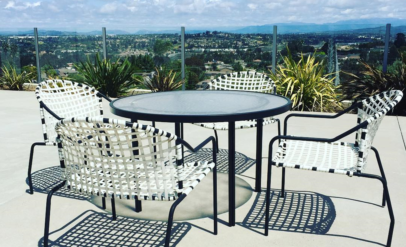 classic modern brown jordan furniture with a view