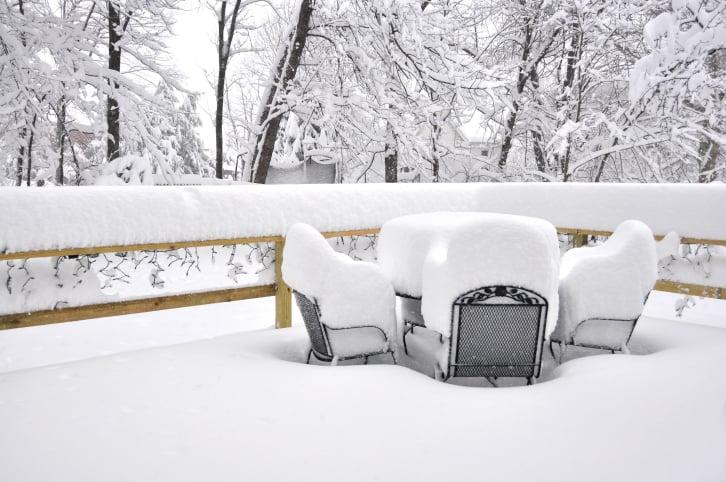 Winterize patio furniture