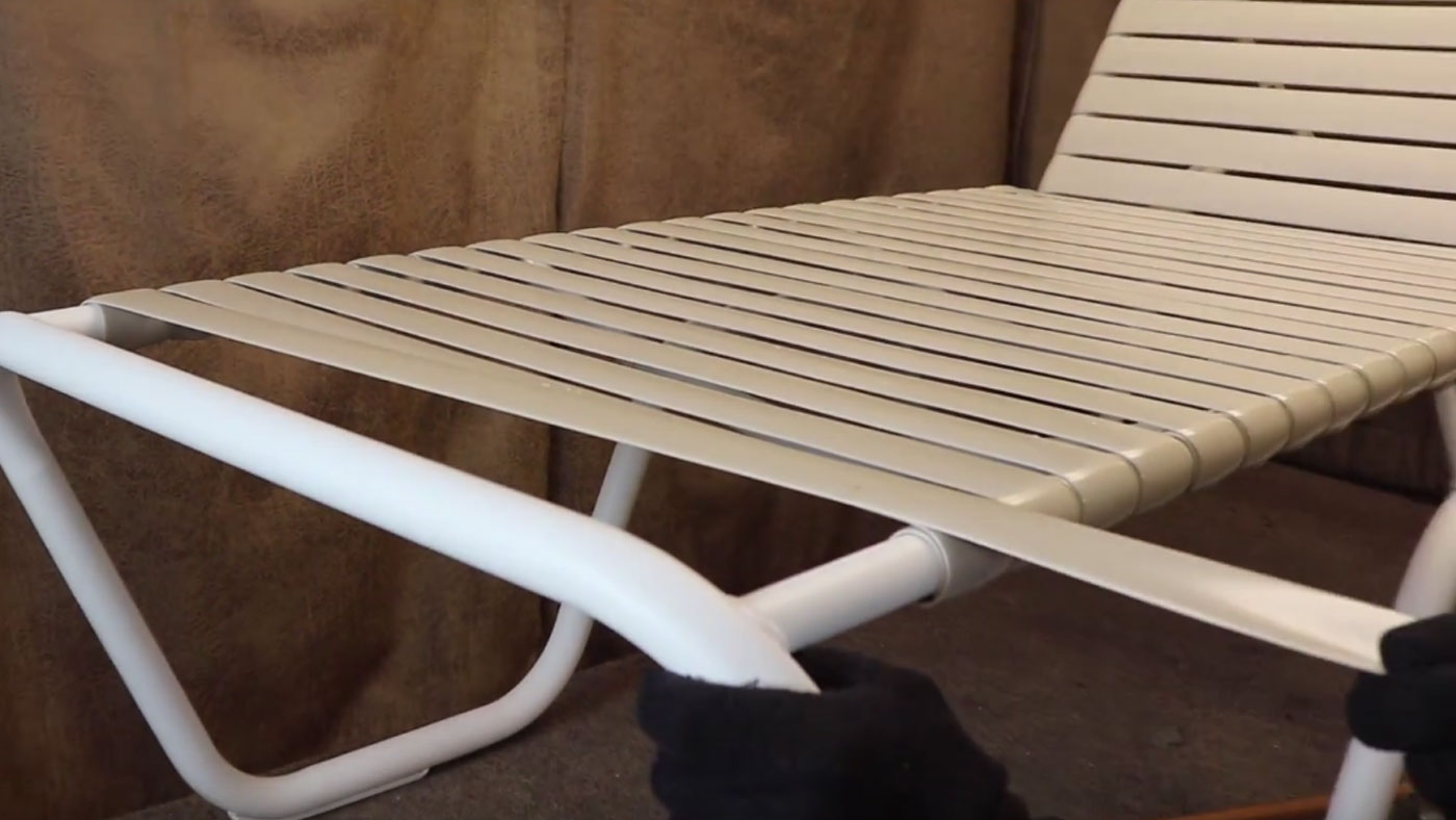 Patio Furniture Strap Repair.Outdoor Furniture Repair How To Fix A Vinyl Strap On A Lounger